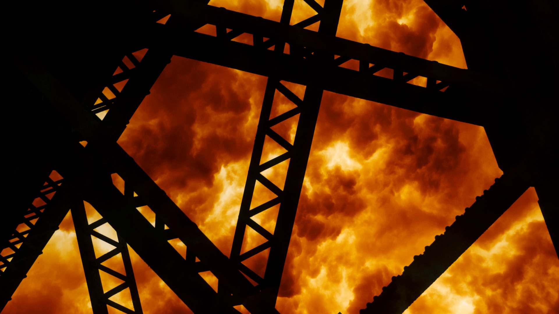 steel structures on fire