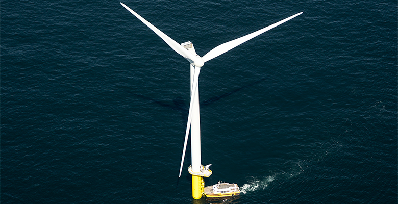 Boats pushes onto the turbine