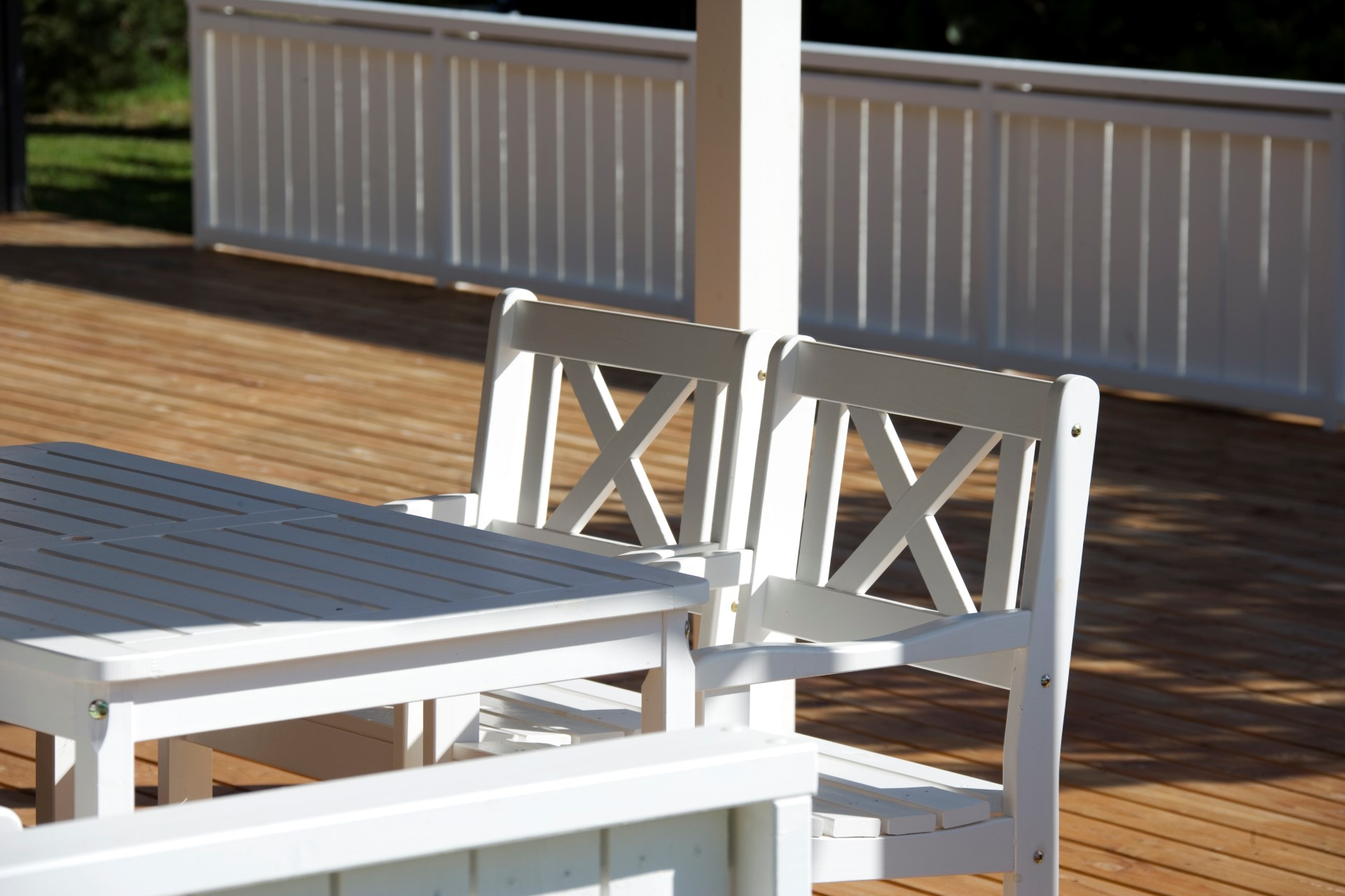 coating of garden furniture